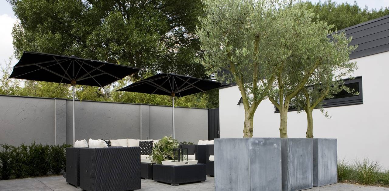 Comfort tuin in meppel i martin veltkamp tuinen for Ontwerp voortuin met parkeerplaats