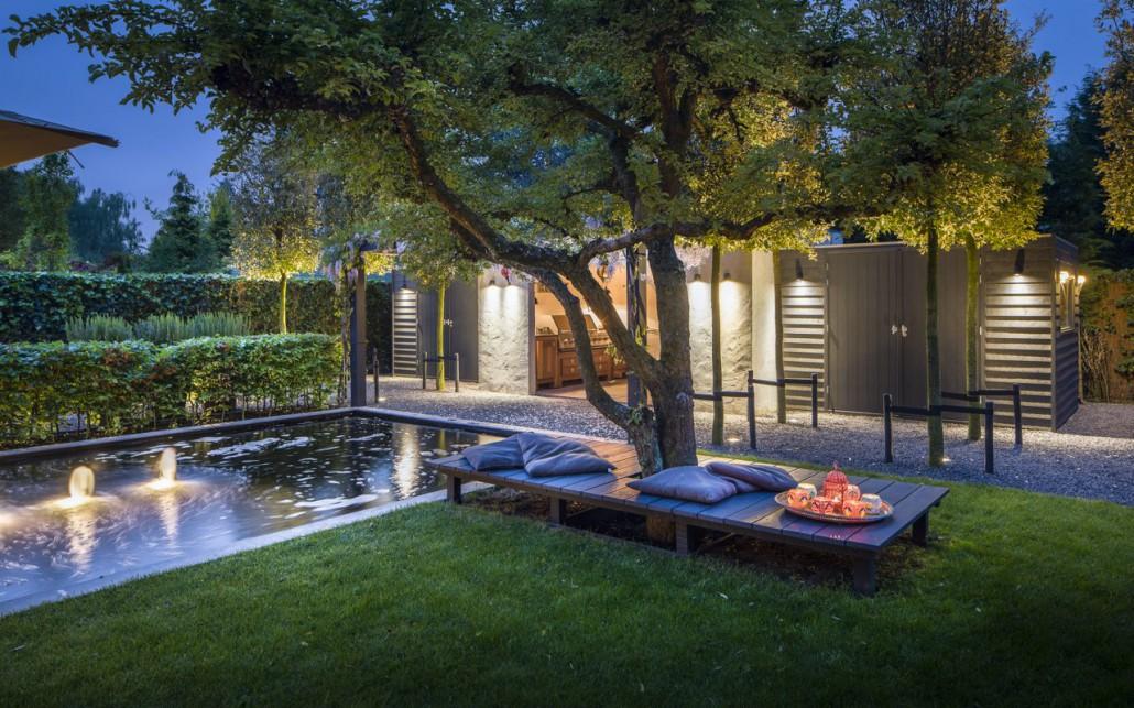 Avondshoot exclusieve tuin i martin veltkamp tuinen for Spiegelvijver bak