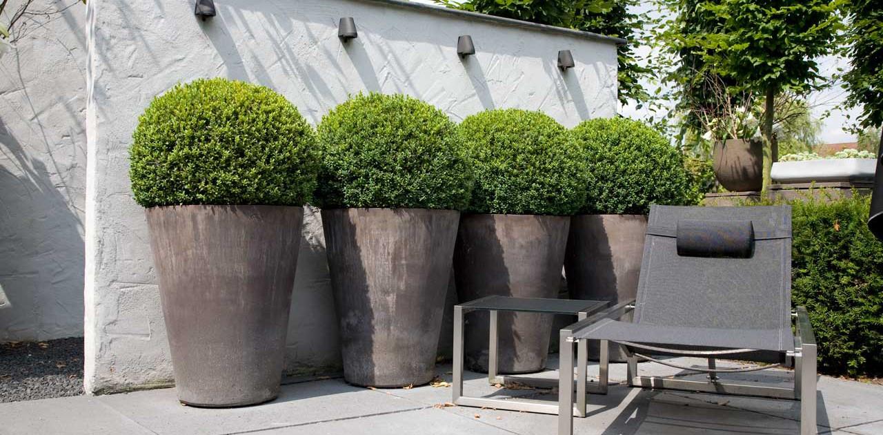 Relax tuin in capelle aan den ijssel i martin veltkamp tuinen - Pot de jardin exterieur ...