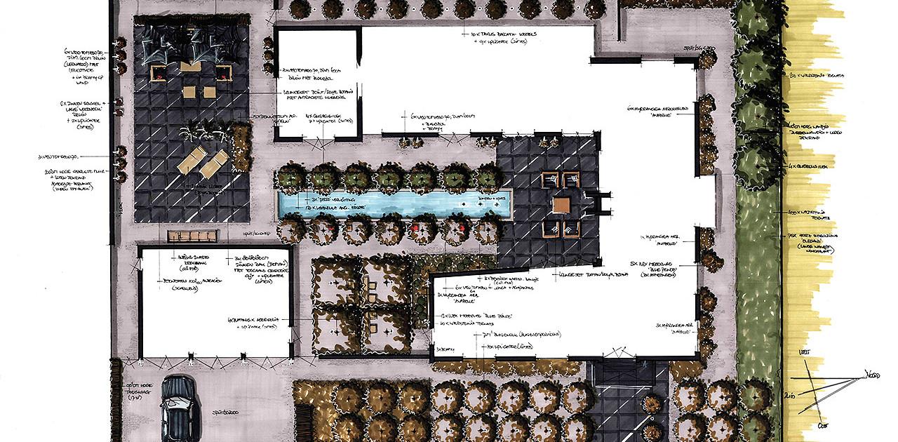 Particulier tuinontwerp te meppel i tuinarchitectuur for Tuinontwerp boek