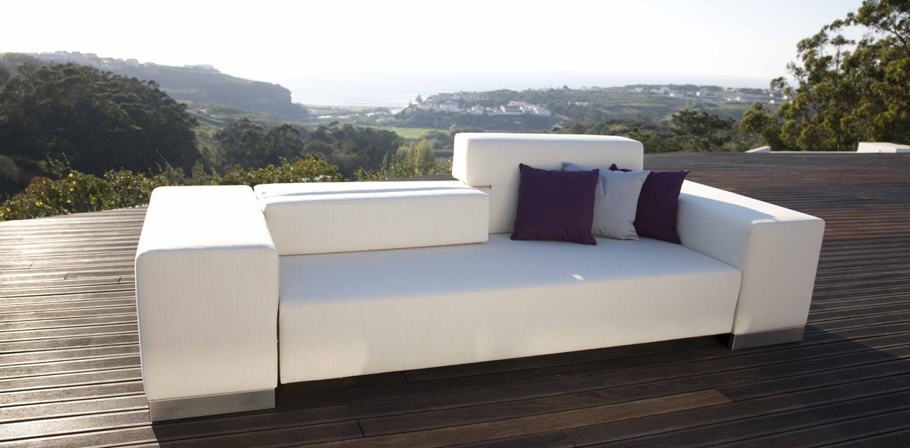 Loungeset exclusief - Witte design lounge ...